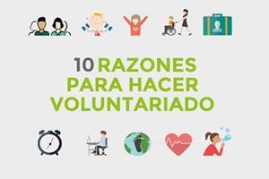 Infografia 10 Razones de Voluntariado Hacesfalta.org